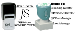 Square Address Stamps